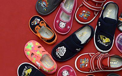 Dětská přezůvková obuv